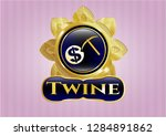 gold shiny emblem with...   Shutterstock .eps vector #1284891862