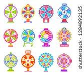 fortune wheel machines set for... | Shutterstock .eps vector #1284892135