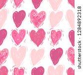 pink hearts. vector seamless... | Shutterstock .eps vector #1284892318
