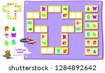 logic puzzle game for kids.... | Shutterstock .eps vector #1284892642