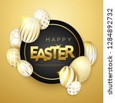 easter gold background with... | Shutterstock .eps vector #1284892732