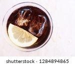 delicious cocktails with ice... | Shutterstock . vector #1284894865
