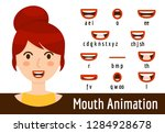 mouth lip sync set | Shutterstock .eps vector #1284928678