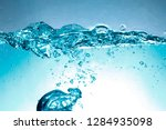 water and air bubbles on a... | Shutterstock . vector #1284935098