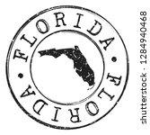 florida silhouette postal... | Shutterstock .eps vector #1284940468
