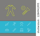 construction equipment icons...