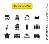 seasonal icons set with peddler ...