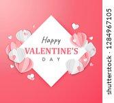 paper art of happy valentine's...   Shutterstock .eps vector #1284967105