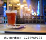 glass  bubbly  placed on the... | Shutterstock . vector #1284969178