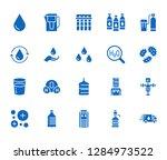 water drop flat glyph icons set.... | Shutterstock .eps vector #1284973522