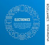 electronics circle poster with... | Shutterstock .eps vector #1284973528