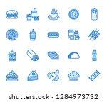 junk food flat line icons set.... | Shutterstock .eps vector #1284973732