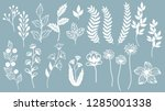 set template for laser cutting... | Shutterstock .eps vector #1285001338