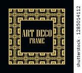 art deco vintage border frame.... | Shutterstock .eps vector #1285014112