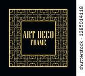 art deco vintage border frame.... | Shutterstock .eps vector #1285014118