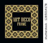 art deco vintage border frame.... | Shutterstock .eps vector #1285014178