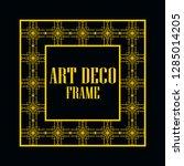 art deco vintage border frame.... | Shutterstock .eps vector #1285014205