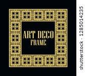 art deco vintage border frame.... | Shutterstock .eps vector #1285014235