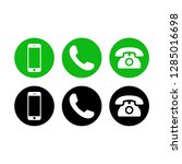 phone icon vector. call icon... | Shutterstock .eps vector #1285016698