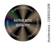 authentic round hologram... | Shutterstock .eps vector #1285031308