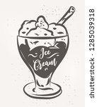 vector hand drawn ice cream... | Shutterstock .eps vector #1285039318