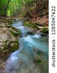 mountain river in summer. water ... | Shutterstock . vector #1285047622