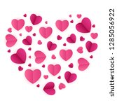 happy valentines day card with... | Shutterstock .eps vector #1285056922