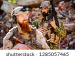 army rangers with assault... | Shutterstock . vector #1285057465