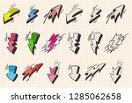 arrow and lightning flash comic ... | Shutterstock .eps vector #1285062658