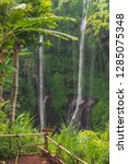 sekumpul waterfall in the green ... | Shutterstock . vector #1285075348
