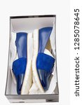 stylish  comfortable  blue...   Shutterstock . vector #1285078645