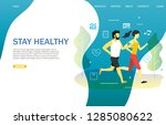 stay healthy landing page... | Shutterstock . vector #1285080622