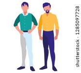 avatar men design | Shutterstock .eps vector #1285097728