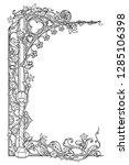 medieval manuscript style... | Shutterstock .eps vector #1285106398