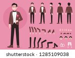 groom character constructor for ... | Shutterstock .eps vector #1285109038