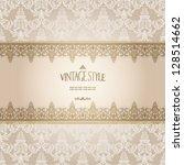 elegant vintage card | Shutterstock .eps vector #128514662