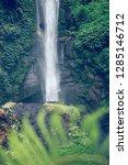 sekumpul waterfall in the green ... | Shutterstock . vector #1285146712