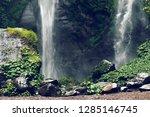 sekumpul waterfall in the green ... | Shutterstock . vector #1285146745
