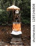 balinese altar in the deep... | Shutterstock . vector #1285146808