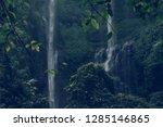 sekumpul waterfall in the green ... | Shutterstock . vector #1285146865