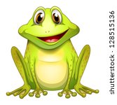 Illustration Of A Smiling Frog...
