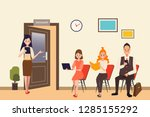 job interview business human... | Shutterstock .eps vector #1285155292