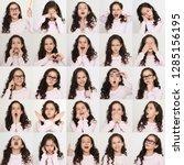 set of emotional portraits of... | Shutterstock . vector #1285156195