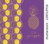 illustration with pineapples... | Shutterstock .eps vector #128515916