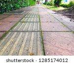 the grunge dirty walkway... | Shutterstock . vector #1285174012