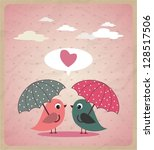 love birds.vector | Shutterstock .eps vector #128517506