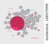 memphis style geometric pattern ... | Shutterstock .eps vector #1285175905