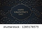 the valentine's day background... | Shutterstock .eps vector #1285178575