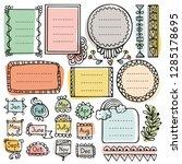 bullet journal hand drawn... | Shutterstock .eps vector #1285178695