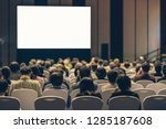 rear view of audience listening ... | Shutterstock . vector #1285187608
